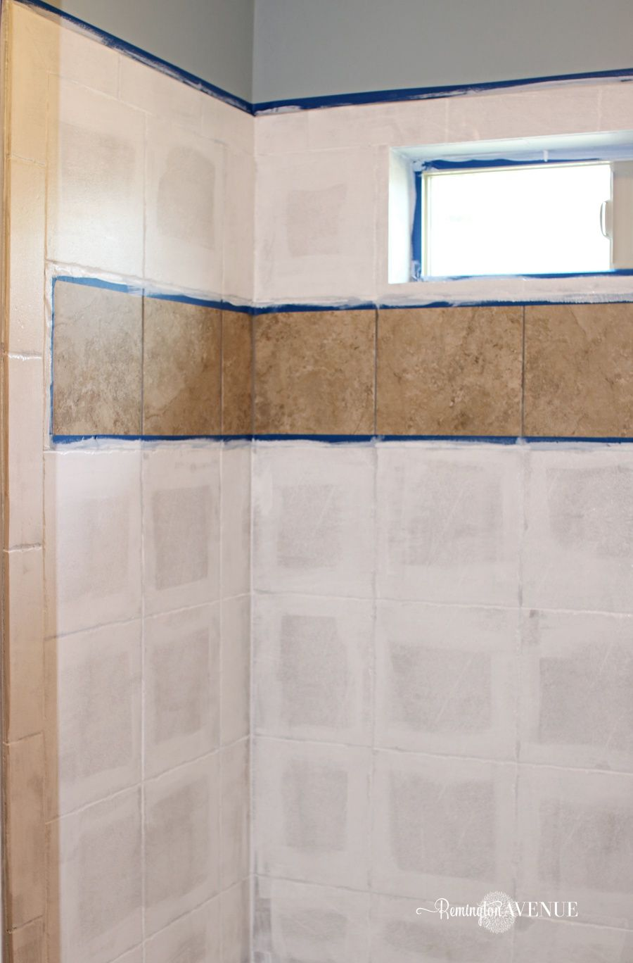 How to Paint Shower Tile | Cement, Tile painting and Concrete floor
