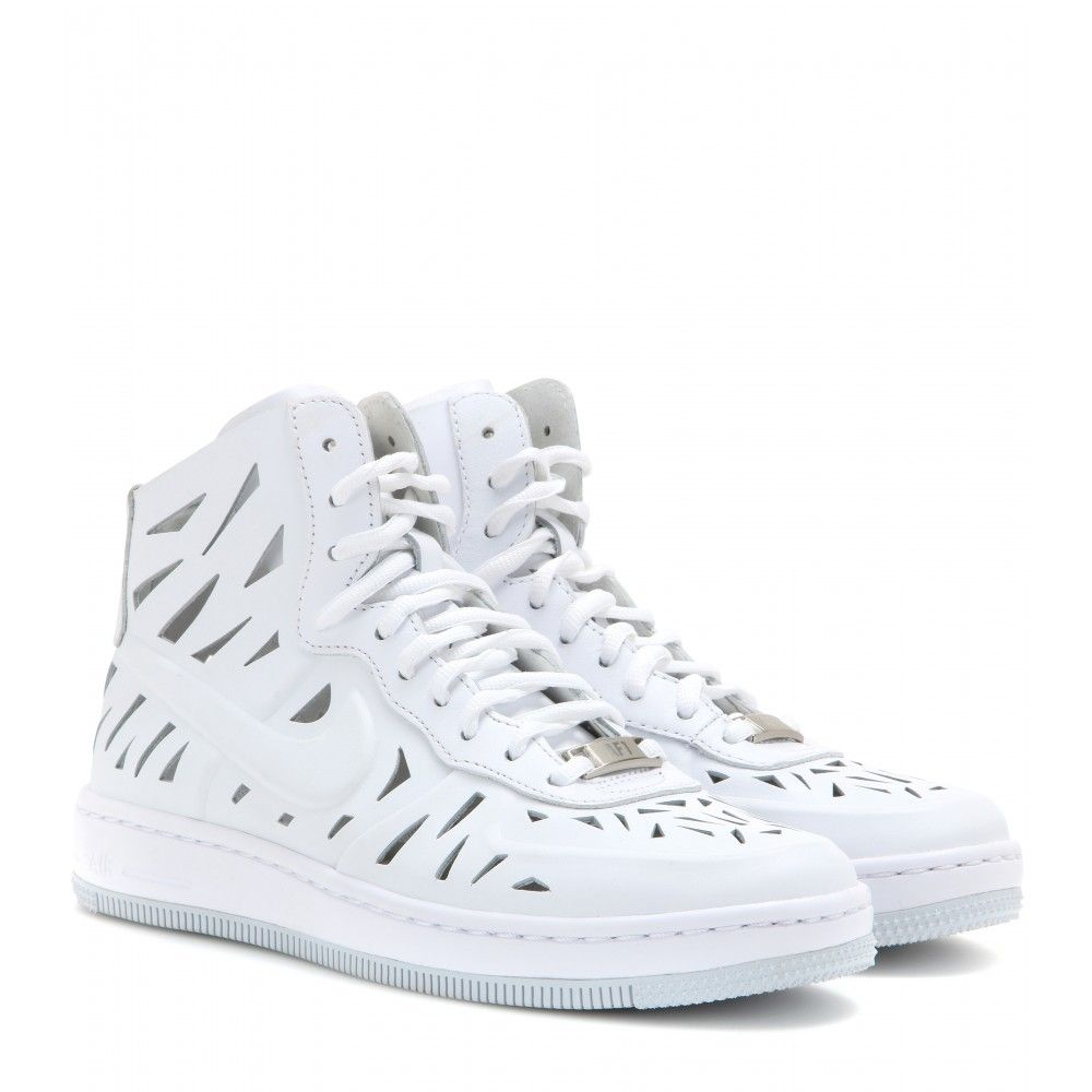 nike white leather high tops