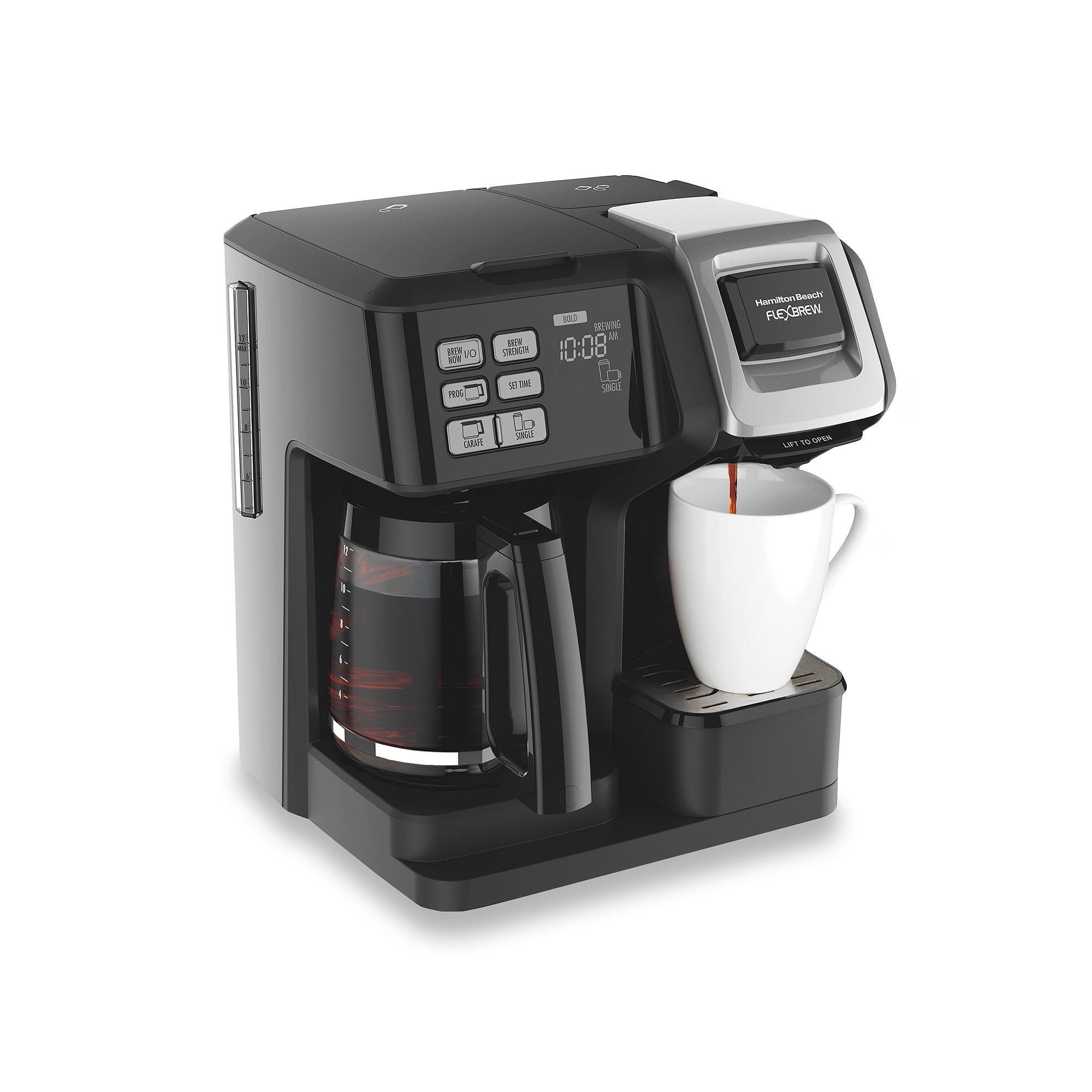 Hamilton Beach Flexbrew 2 Way Coffee Maker In 2020 Dual Coffee Maker Best Coffee Maker Single Serve Coffee Makers