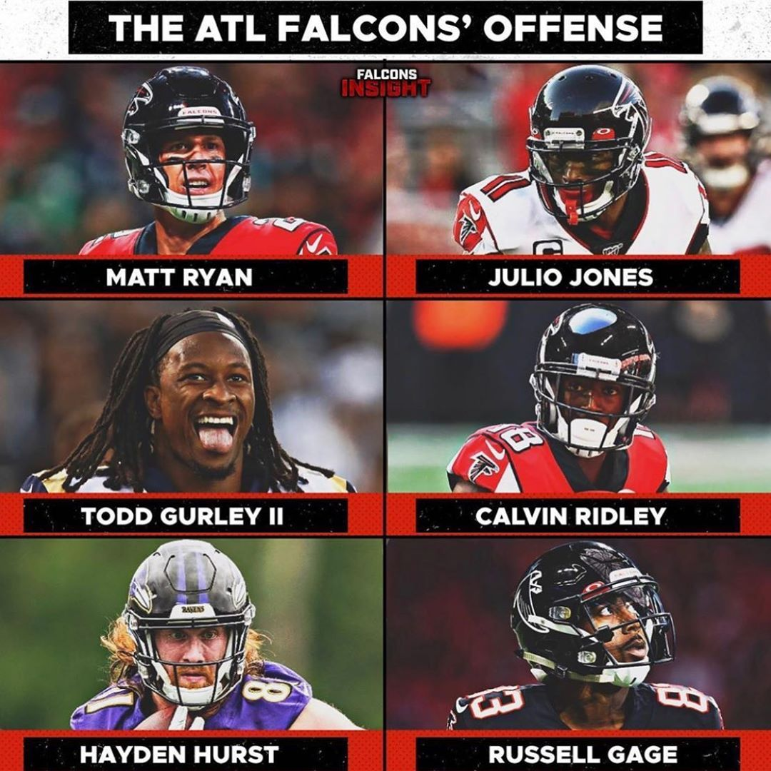 Atlanta Falcons On Instagram Scary Sight For Opposing Defenses Pc Falconsinsight Ryan Matt02 Tg4hunnid Juli In 2020 Julio Jones Atlanta Falcons Falcons