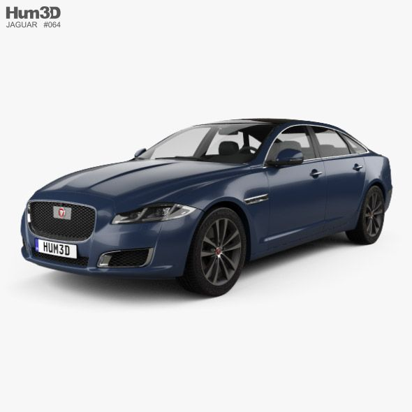 Jaguar Xj50 Lwb 2019 In 2020 Car 3d Model Jaguar Xj Jaguar