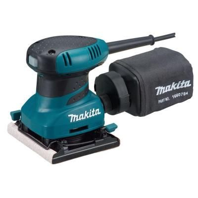 Makita 2 Amp Corded 1 4 Sheet Finishing Sander With 60g Paper 100g Paper 150g Paper Dust Bag Punch Plate Hard Case Bo4556k The Home Depot Finishing Sander Makita Sheet Sander