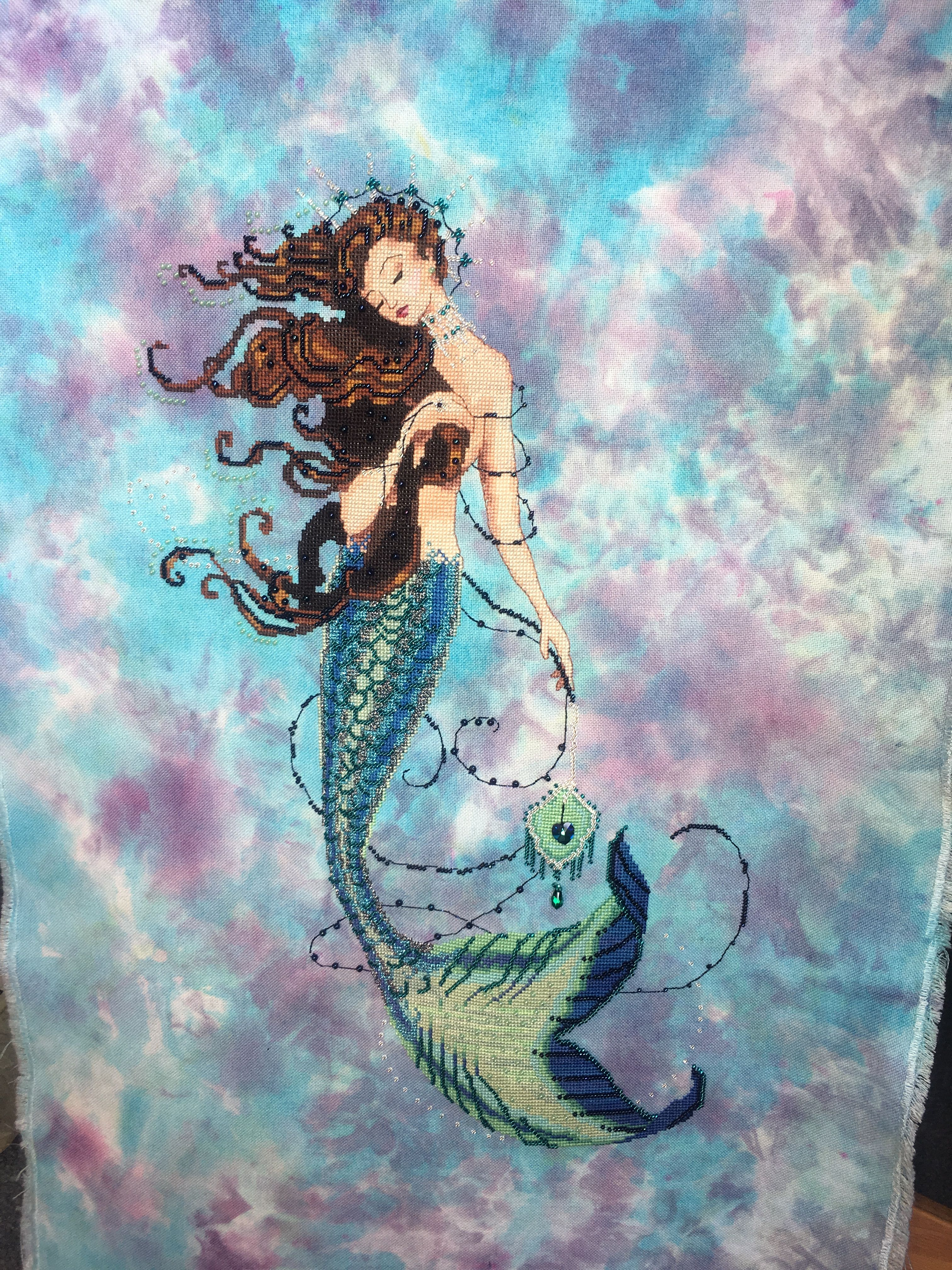 Fabric Beads Braid Silk Floss MD151 Mirabilia Renaissance Mermaid Kit Chart