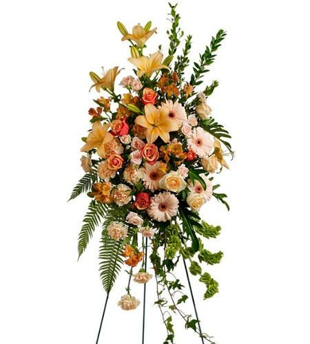 Funeral Flower Arrangements Standing Spray Funeral Wreath