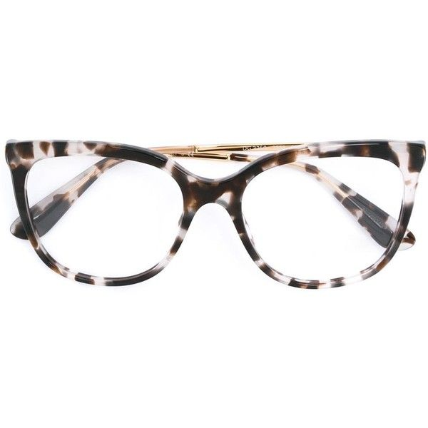 19bf2b7c3563 Dolce   Gabbana cat eye frame glasses (13.295 RUB) ❤ liked on Polyvore  featuring accessories