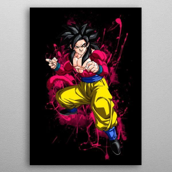 Goku Super Saiyan wall art