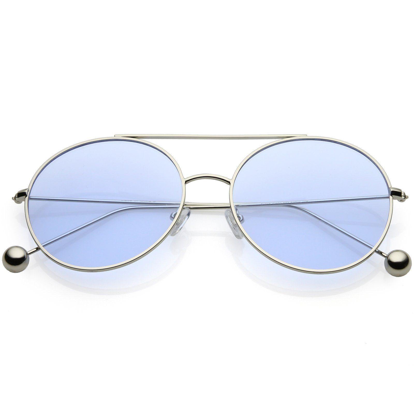 fd48acb047 Premium Oversize Round Sunglasses Metal Double Nose Bridge Color Flat Lens  59mm  frame  sunglasses  sunglass  sunglassla  mirrored  womens  oversized   bold ...