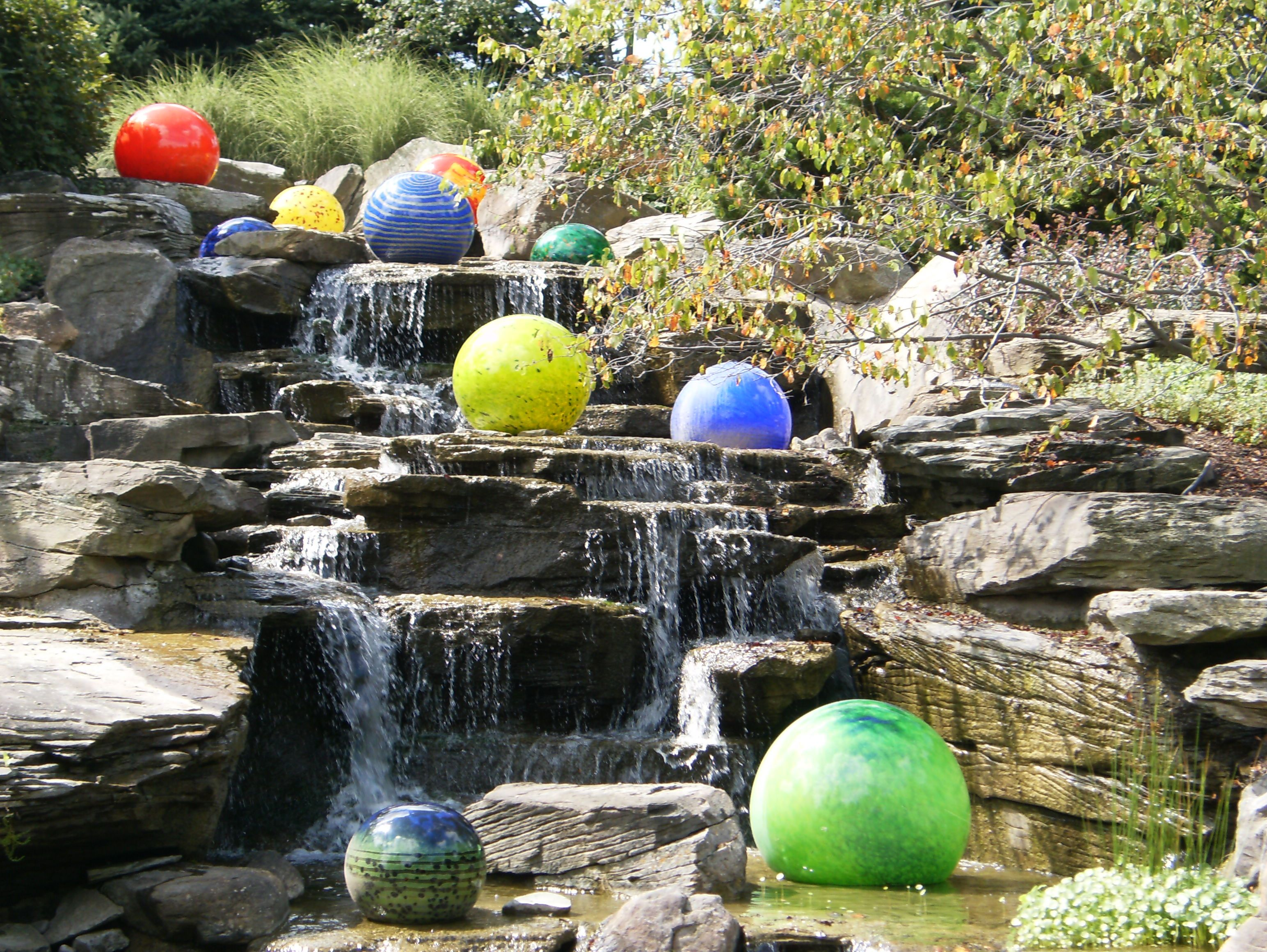 Chihuly glass at meijer gardens near grand rapids