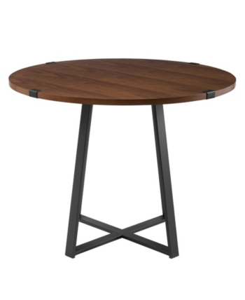 Walker Edison 40 Round Dining Table Reviews Furniture