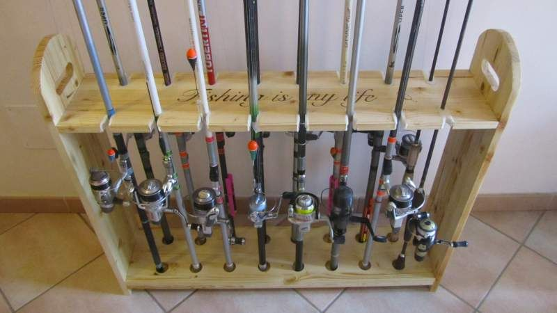 Portacanne rastrelliera in legno per canne da pesca 4 for Rastrelliera per canne da pesca