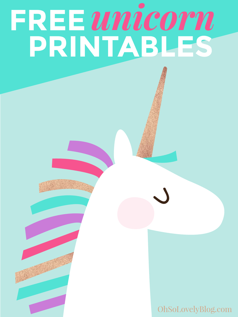 Freebie unicorn printables to create pinterest for Party wall letter template