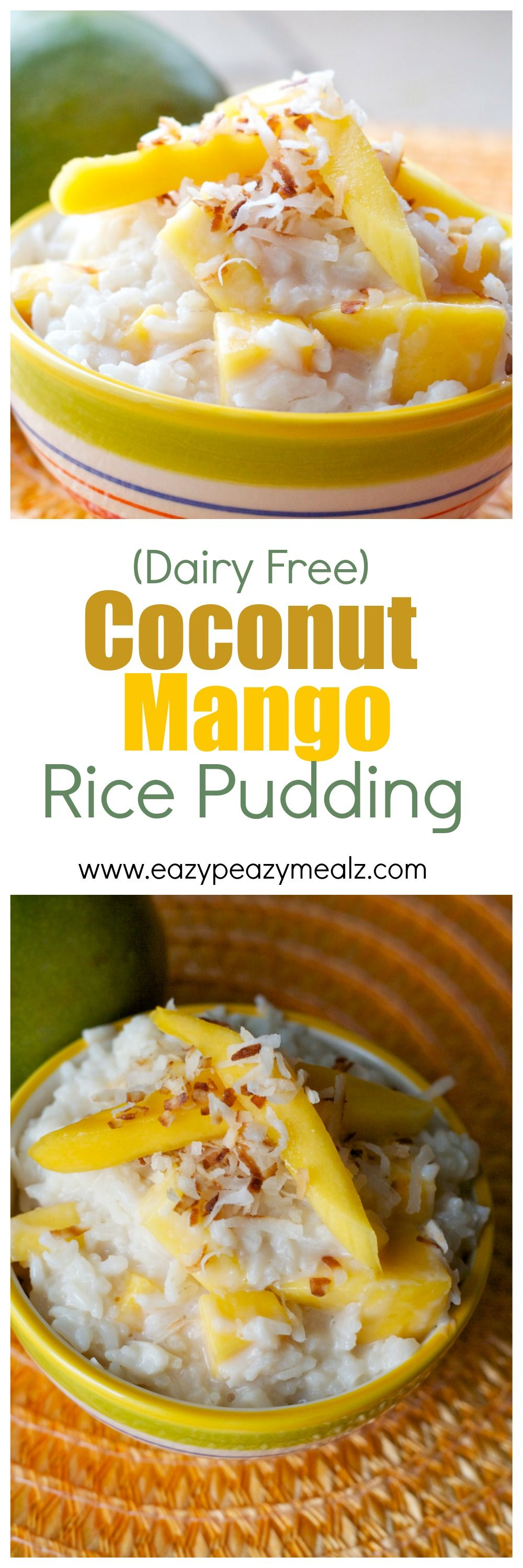 Coconut Mango Rice Pudding | Recipe | Food, Cooking ...