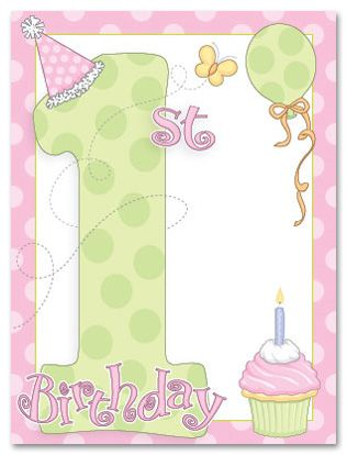 images of vintage baby,s first birthday card Christmas Cards - invitation card for ist birthday