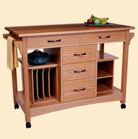 CLICK HERE for free project plans for this Portable Kitchen Work Station. - CLICK TO ENLARGE