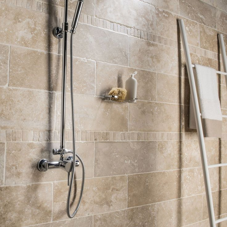 Natural stone floor and ivory wall, Travertine l.20 x L.50 ...