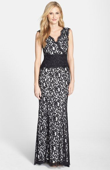 Textured Lace Mermaid Gown | Tadashi shoji, Gowns and Nordstrom