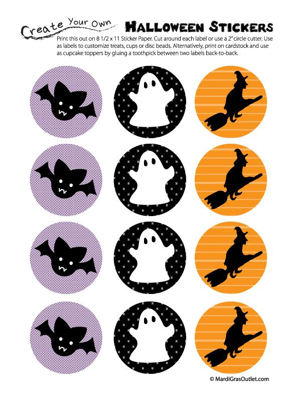 photograph relating to Halloween Stickers Printable titled Free of charge Printable Halloween Tags and Stickers Halloween inside