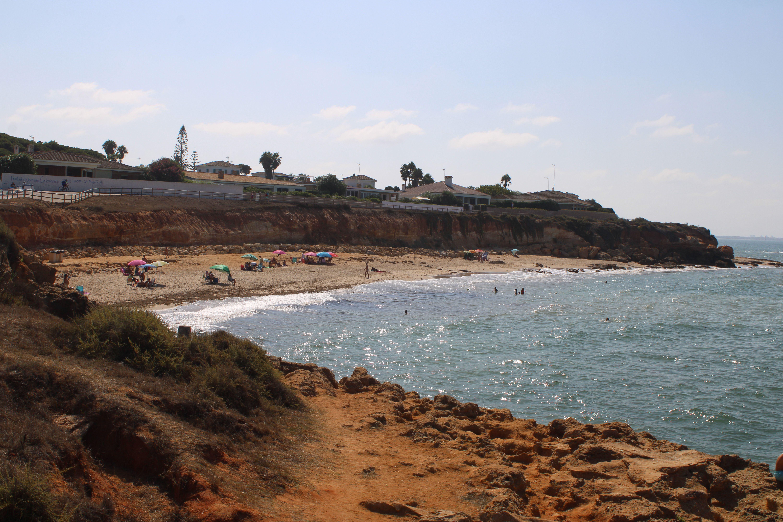 paisajes de la playa de la calita en El Puerto de Santa María