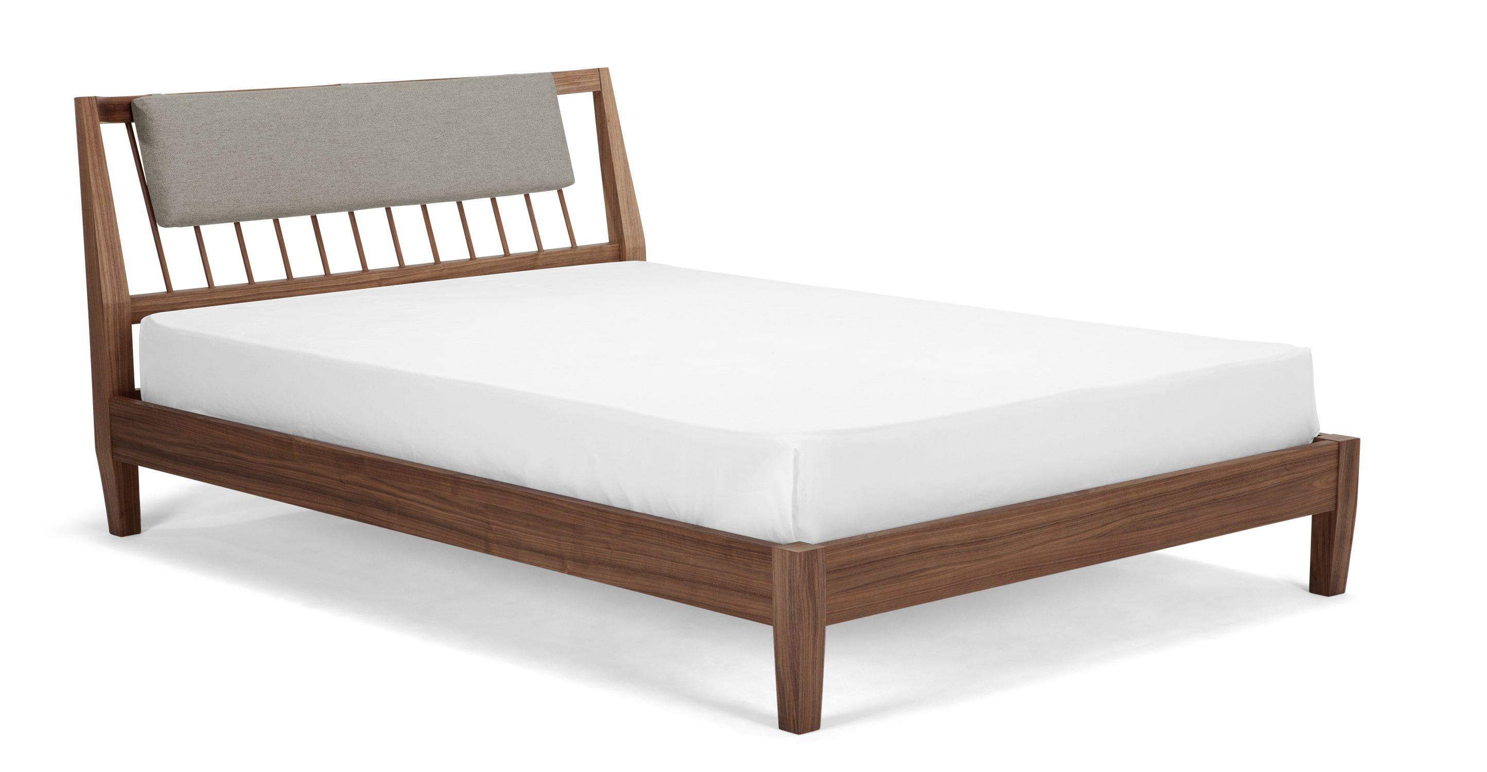 Mara King Size Bed Walnut From Made Com Dark Wood Express
