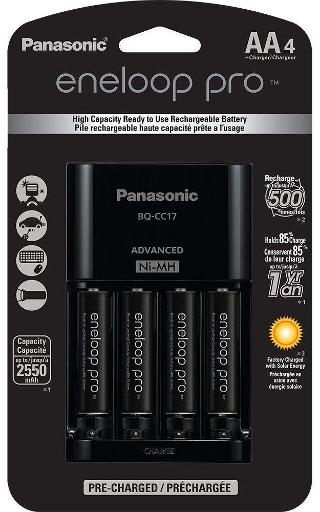 Panasonic Eneloop Pro Battery Charger W 4x Aa Batteries 18 50 Free Store Pickup Lavahot Http Www Lavahot Rechargeable Batteries Battery Charger Panasonic