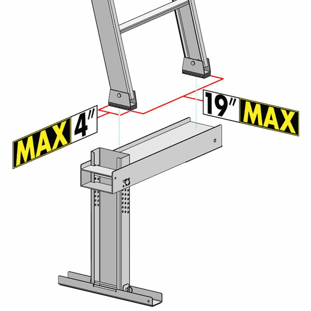 Ideal Security Ladder Aide La1 The Home Depot Ladder Construction Tools Roofing Tools