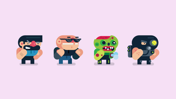 2d Video Game Character Animation Gigantic Flat Design Illustration And 2d Animation Game Character Design Game Character Vector Character Design