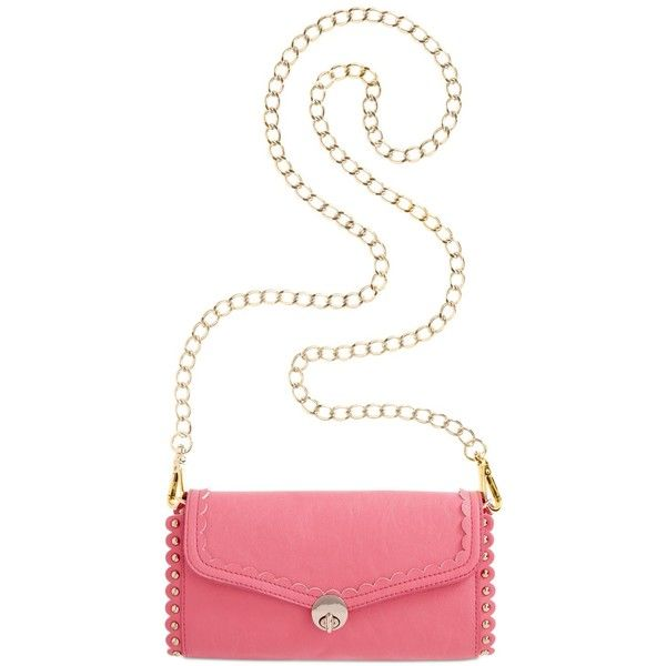 Love this Kensie Lacey Laser Crossbody (41 CAD) from Macys!  Pink is the perfect color to pair with Neutrals, like Perlae Couture's Mocha Lace cocktail dress found at www.perlaecouture.com.  See them together on the Perlae Couture Style Board then shop the website for the dress!  #crossbodypurse #pinkpurse #pinkbag
