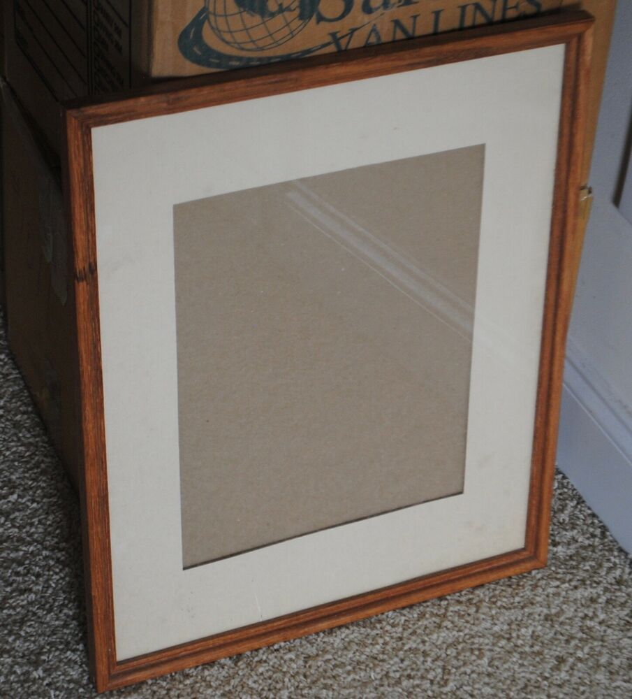 Large Vintage Etched Wood Picture Frame 21 X 17 Matted Glass 70 S Art Natural Fashion Home Garden Picture On Wood Wood Picture Frames Custom Poster Frames