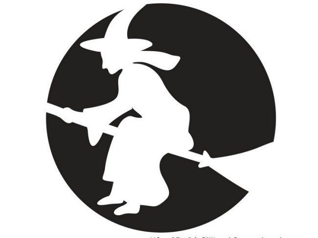 Halloween Kurbis Schnitzvorlagen Fliegende Hexe Besen Zitate