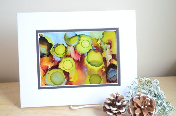 Original 5x7 Alcohol Ink Painting on Yupo Paper by KellieLynnArt, $50.00