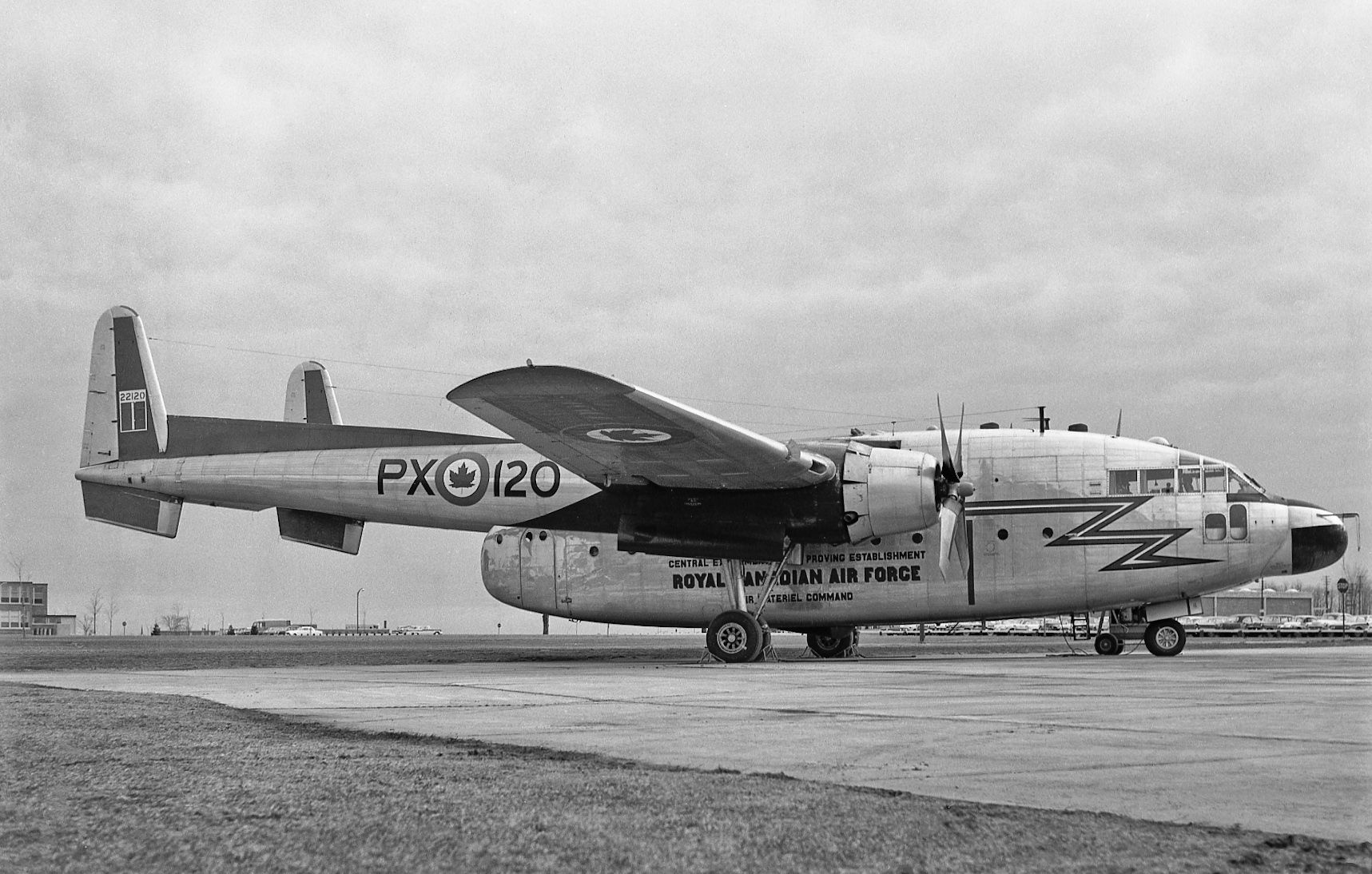 C119G Flying Boxcar 22120 of the Central Experimental and