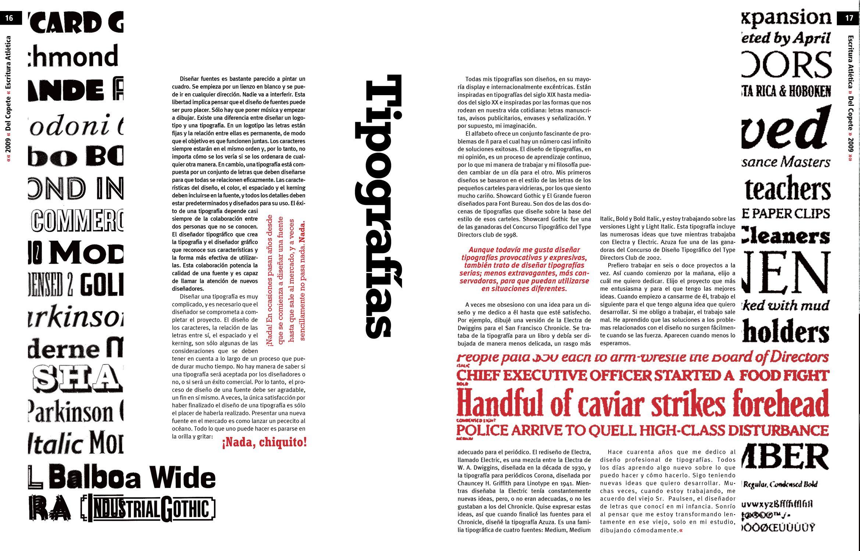 Trabajo final - Tipografía II - Cátedra Gaitto - Revista de la Cátedra - 16-17