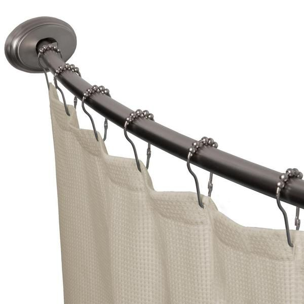 Bon Maytex Smart Curved No Drill Shower Curtain Tension Rod | Overstock.com  Shopping   The Best Deals On Shower Rods
