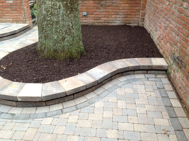 Garden walls and flower beds; Belgard Weston Wall Stone Paver Patio Unilock  Olde Greenwich Cobble® Paver Accent Belgard Holland - Sierra Grey Holland Pavers Mindy Pinterest Grey, Patio And
