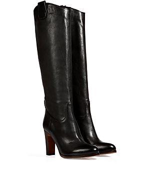 stylishe stiefel aus feinem schwarzem kalbsleder von l. Black Bedroom Furniture Sets. Home Design Ideas