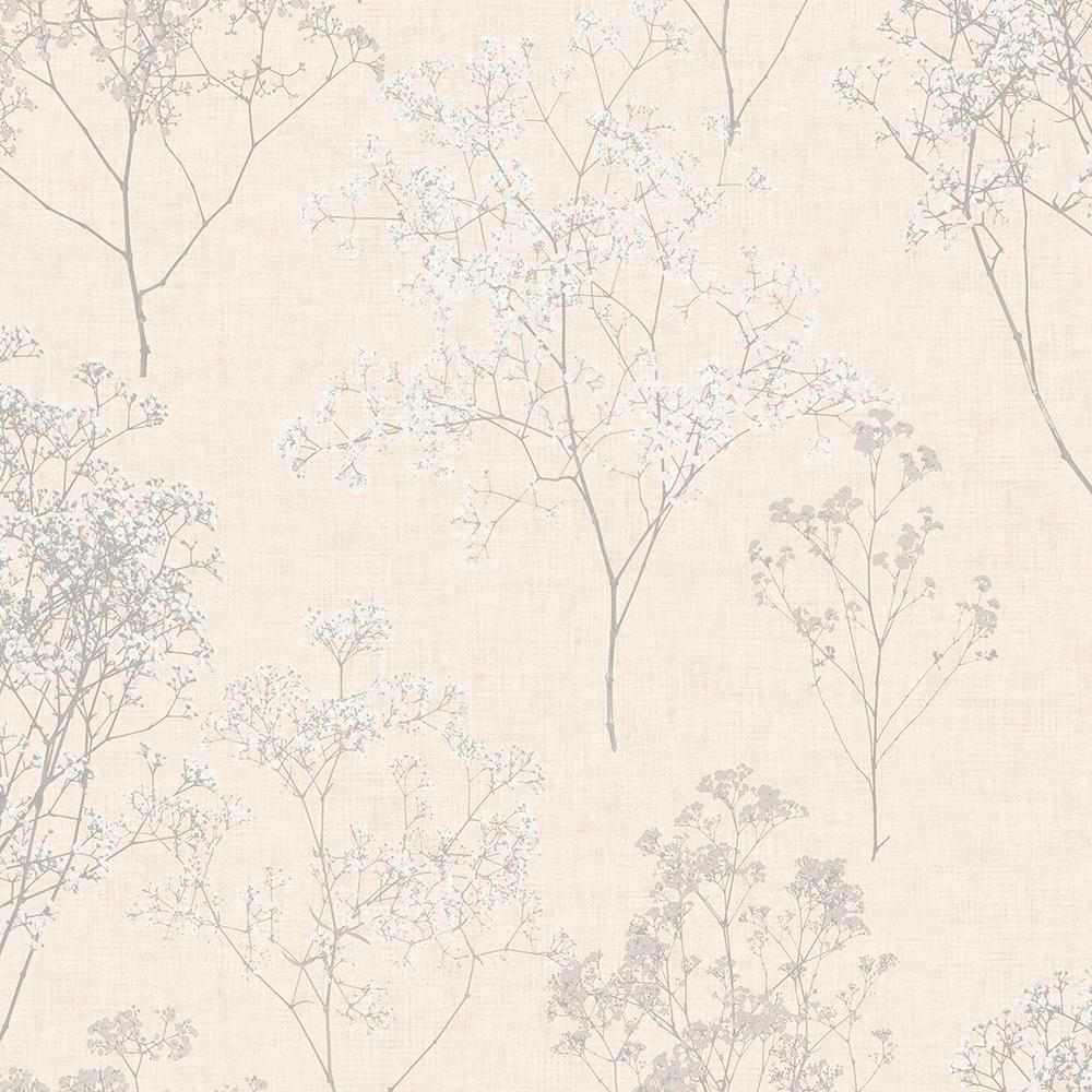 Norwall Queen Anne's Lace Vinyl Peelable Roll (Covers 55 sq. ft.)-FH37509 - The Home Depot