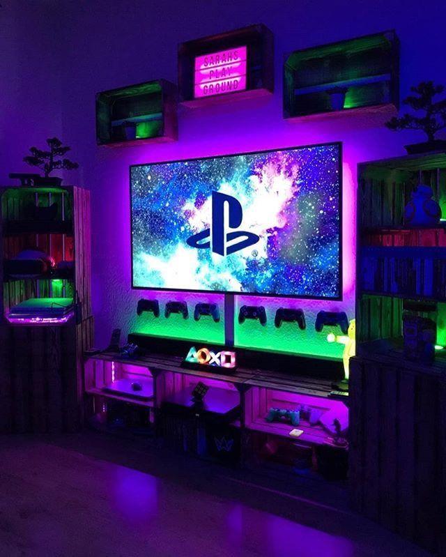 25 Epic Gaming Room Setups Tips To Improve Yours Tasteful Tavern Game Room Decor Video Game Rooms Gamer Room
