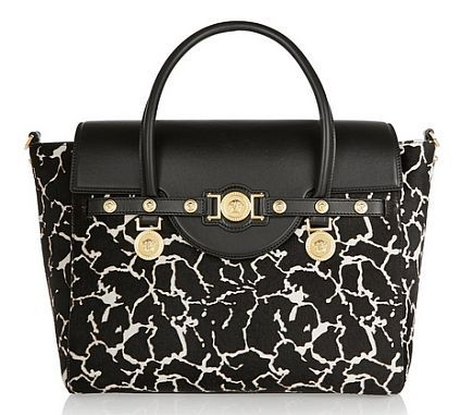 fashionmyloveitaly.com Spring Summer 2015 Handbag Guide Printed calf hair and leather tote _ Versace _ THE OUTNET