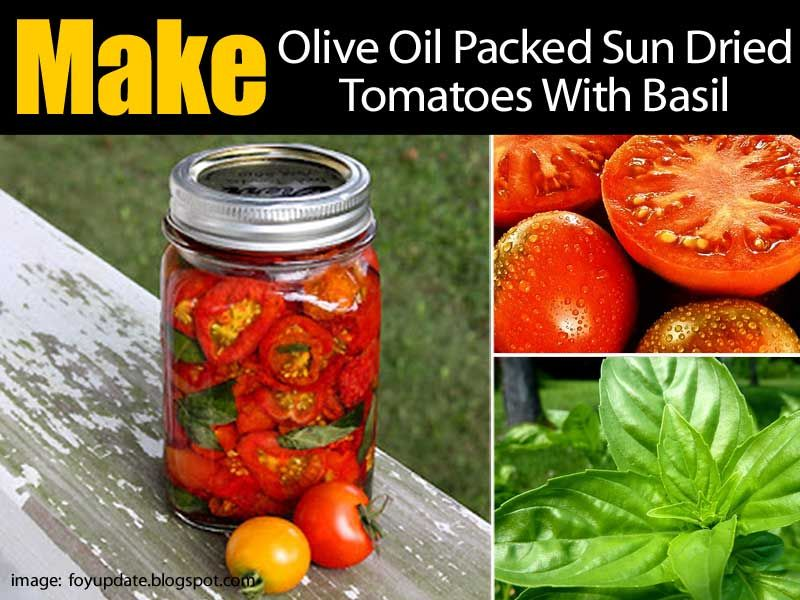 how to pack sun dried tomatoes in oil