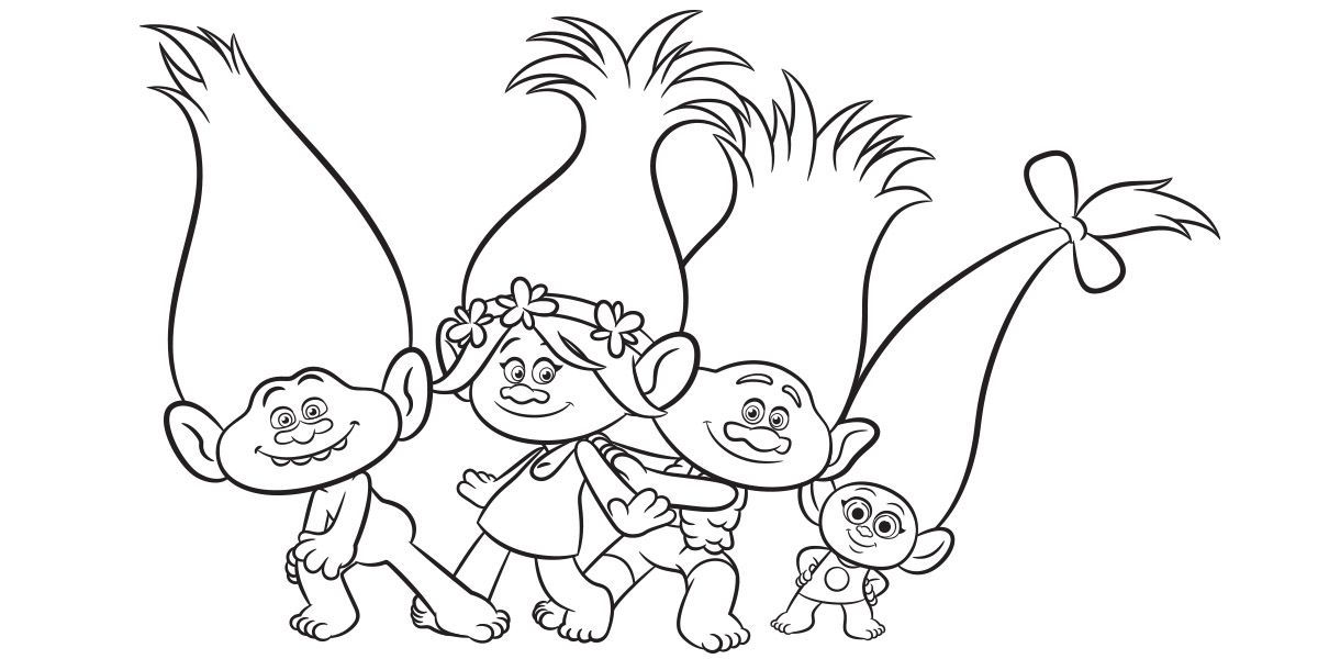 trolls colouring sheets kids on the coast kids in the city