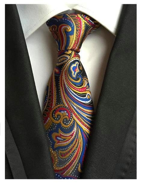 Hot Classic Striped Red Gold JACQUARD WOVEN 100/% Silk Men/'s Tie Necktie