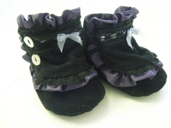 Goth Baby Victorian Boots For Your Baby 30 00 Via Etsy Kids Shoes Gothic Boots