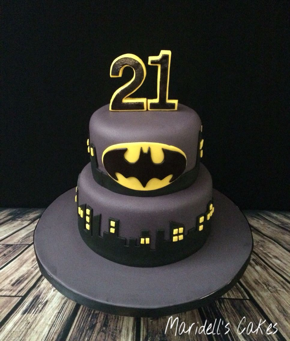 Batman 21st Birthday Cake   Maridell's Cakes   Batman birthday