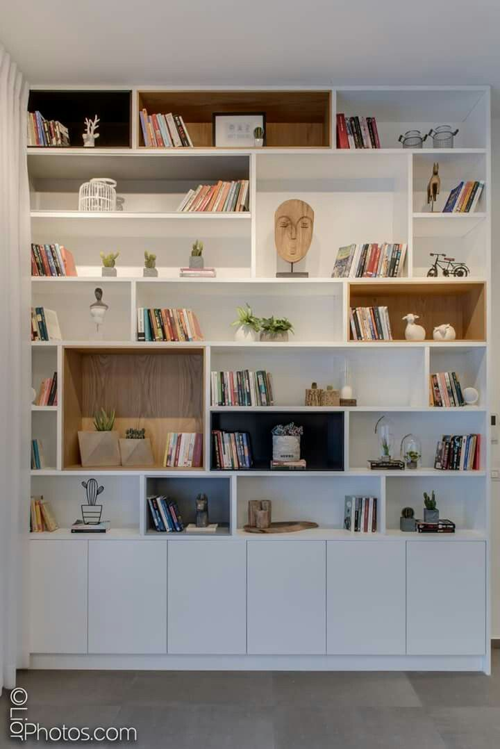 Could Be Nice Detail To Right Of Fireplace Where You Can Store Toys And Display Books Etc Bibliotheque Murale Design Deco Maison Mobilier De Salon