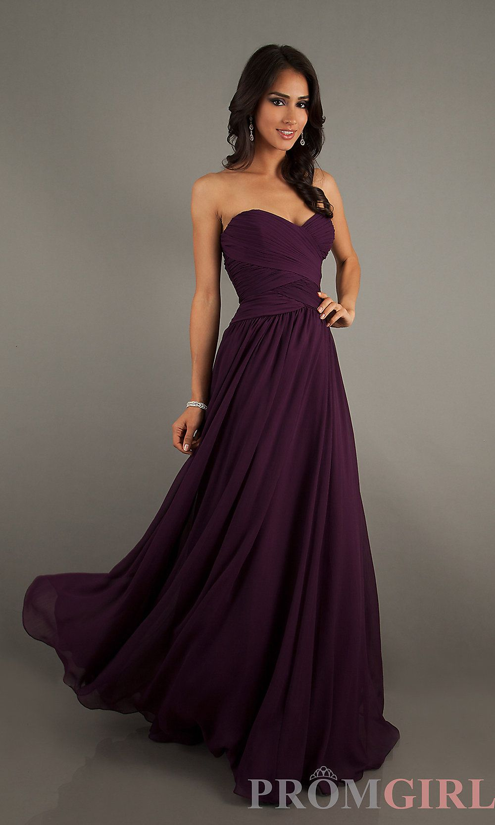 Long Strapless Gowns, Mori Lee Long Dresses- PromGirl in wine colour ...