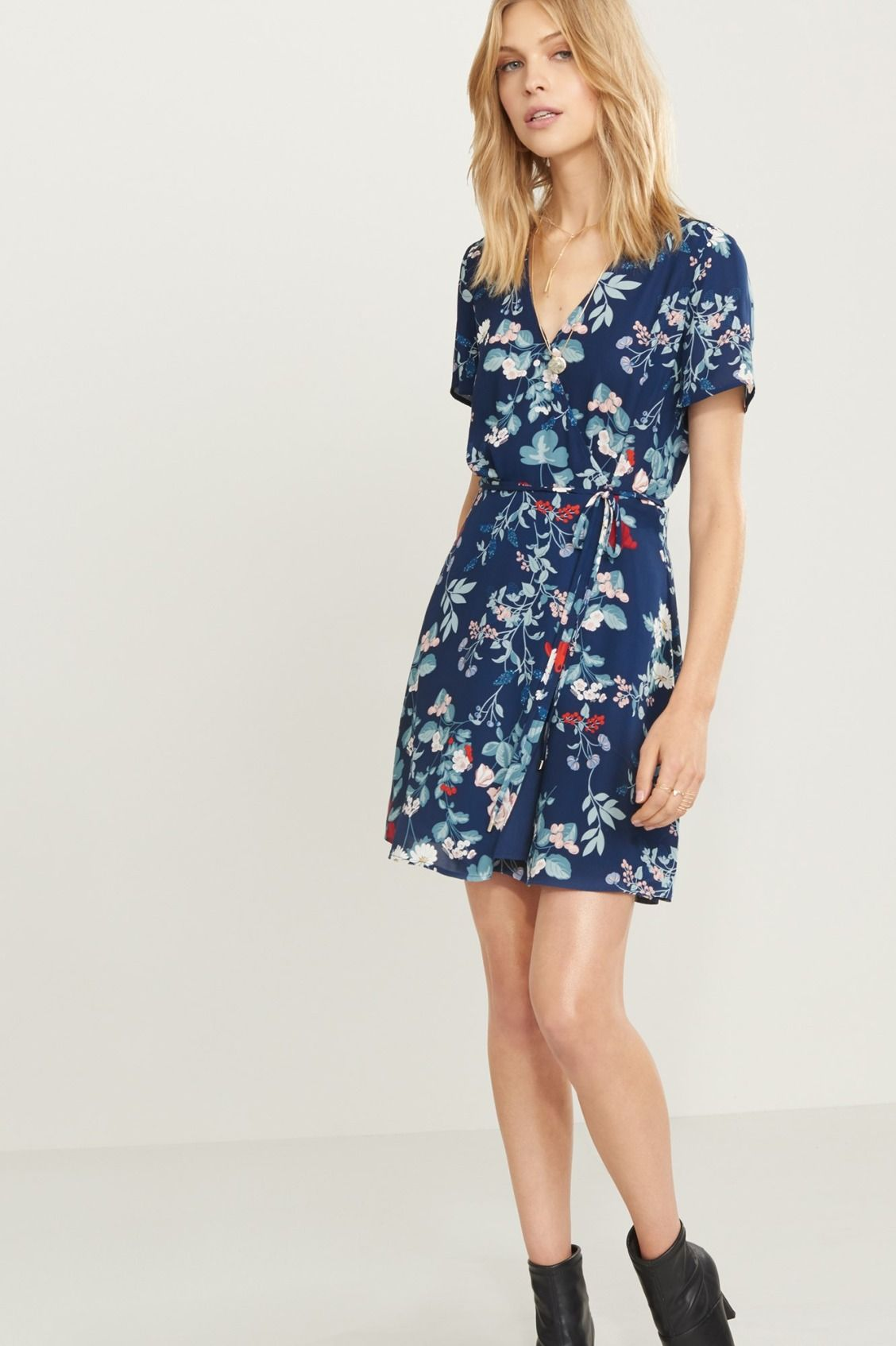 Wrap me right round Fit and Flare Wrap Dress