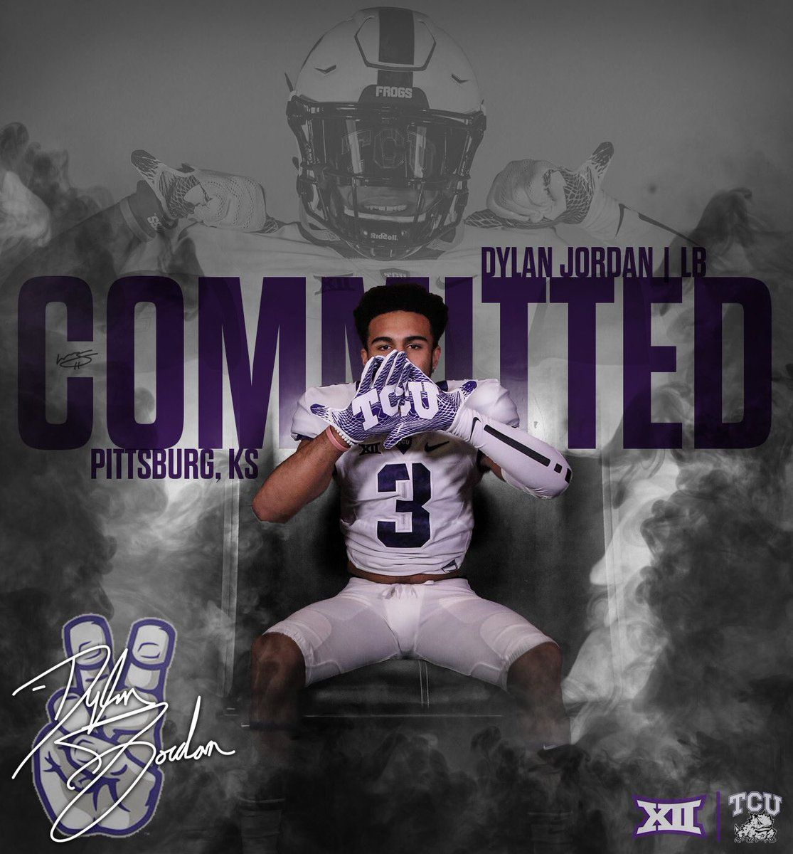 Pin By Skullsparks On 2019 Signing Class In 2020 Sports Graphic Design Tcu Pittsburg