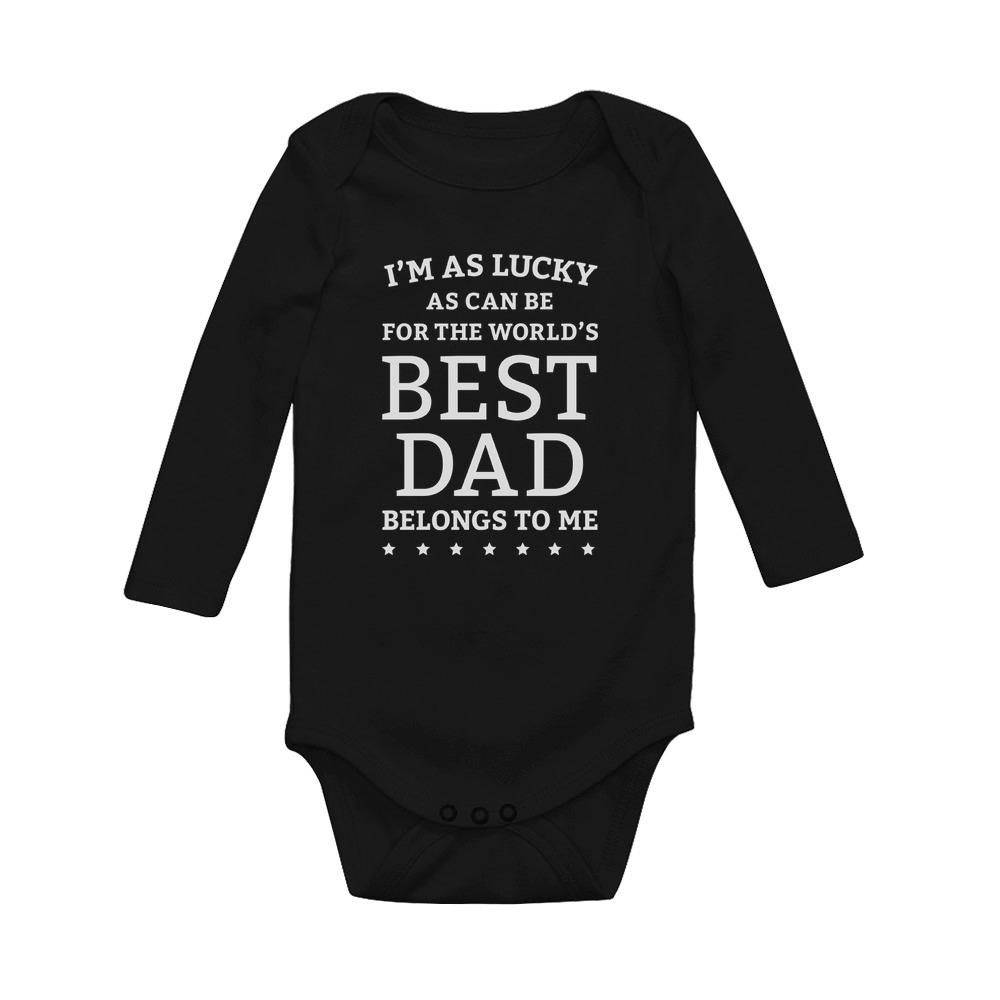 World/'s Best Dad Belongs To Me Father/'s Day Gift Baby Bodysuit Baby Shower Gift