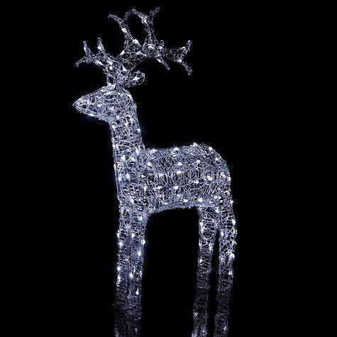 Buy john lewis outdoor led standing reindeer light white large buy john lewis outdoor led standing reindeer light white large online at johnlewis aloadofball Choice Image