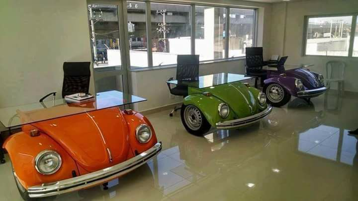 Bureau volkswagen vw aircooled car furniture car